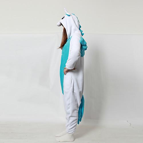 Брюхо белое Синий Единорог ватки коралла взрослых Kigurumi пижамы Lightinthebox 1546.000