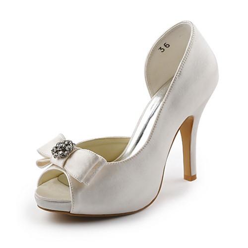 женская обувь с открытым носком шпилька сатин насосы свадебные туфли больше цветов (lightinthebox) Талды