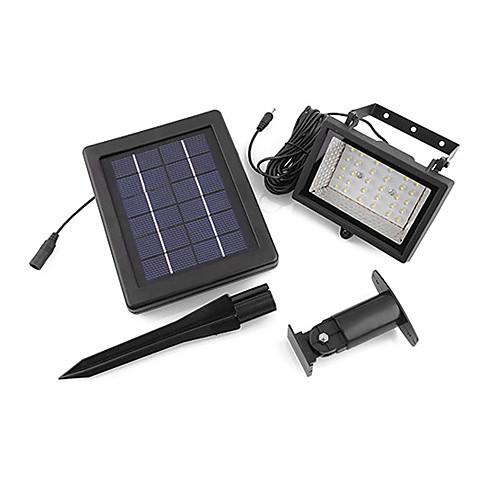 Солнечная энергия Ultra Bright 30 светодиодных сад Наводнение пятно света Газон лампа холодного белого (СНГ-57258) Lightinthebox 3437.000