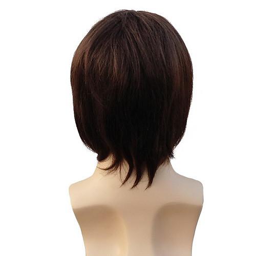 100% человеческих волос монолитным короткие прямые Шатен человека парики Lightinthebox 2062.000