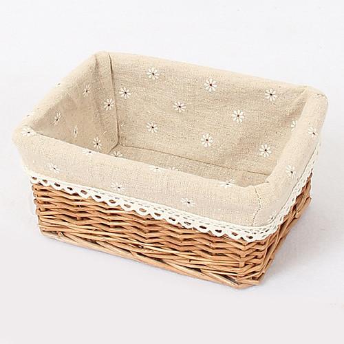 Традиционный Бежевый Ткань Лайнер Бамбук хранения корзины для ткани Lightinthebox 472.000