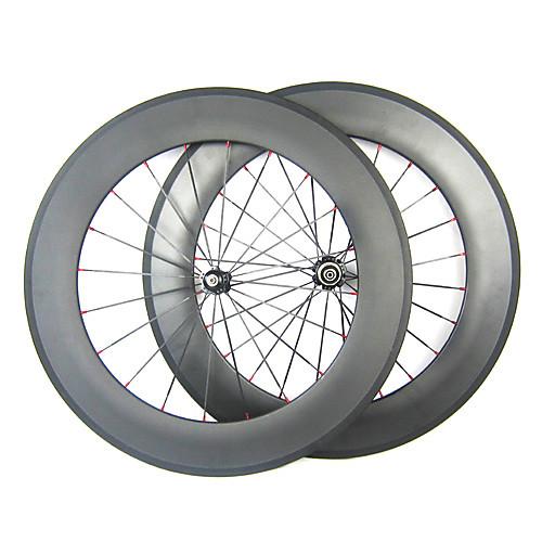 23mm Ширина 700C полный углерода 88mm Clincher дорожный мотоцикл / колесных велосипедов Lightinthebox 32227.000