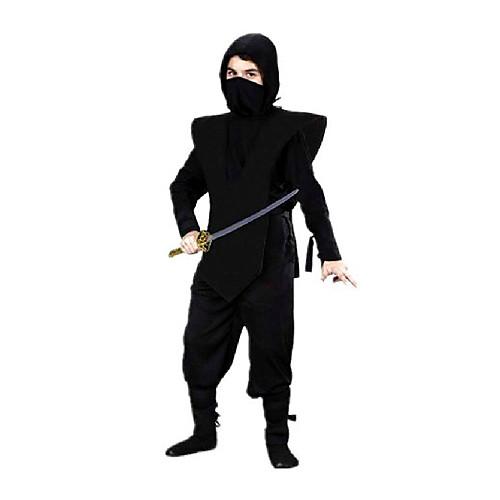 Храбрый Ниндзя Черный полиэстер Детский карнавал Костюм с черной повязкой (для Рост 120-145см) Lightinthebox 1288.000