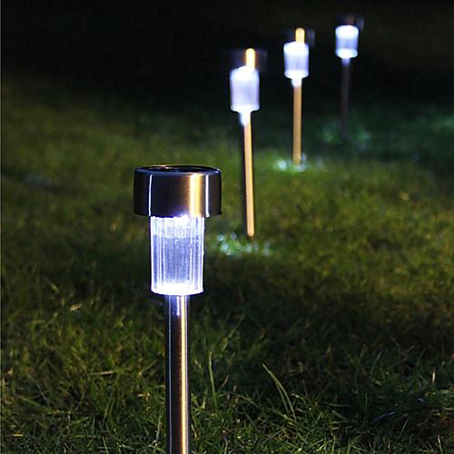 8 Белый светодиод нержавеющей стали солнечной энергии света Открытый украшения сада Газон лампа (СНГ-57267) Lightinthebox 2148.000