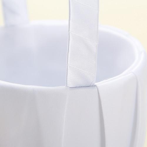 Цветочные корзины В White Satin С лентой лук Lightinthebox 591.000