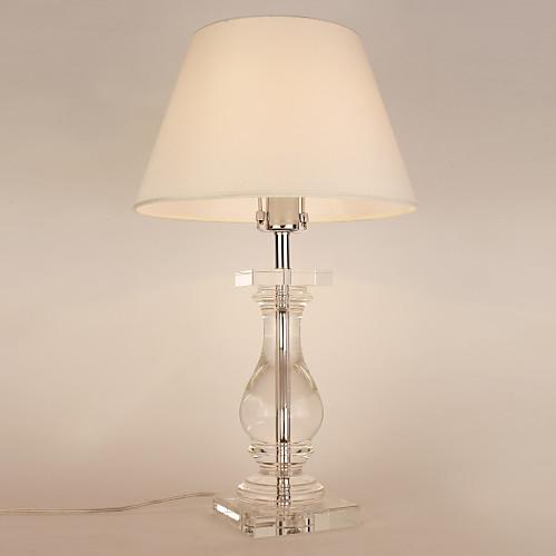 60W E27 Настольная лампа с белым Shade и Carrier Кристалл лампы Lightinthebox 11172.000