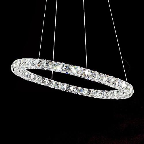 Хрустальная люстра-обруч с отделкой из нержавеющей стали, 40 светодиодов по окружности Lightinthebox 5585.000