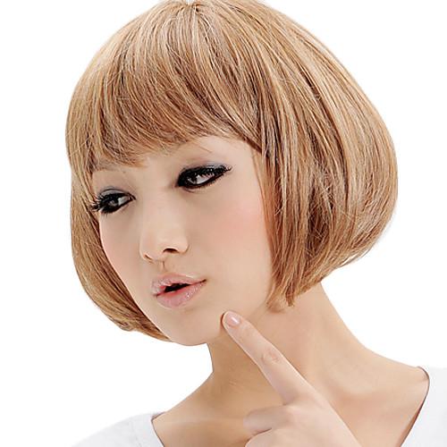 Монолитным Синтетический Короткий Средний Кудрявые стильных женщин парики Lightinthebox 816.000