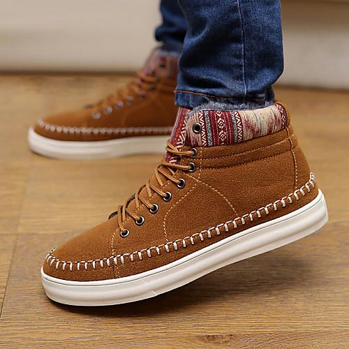 Мужская замши плоский каблук мода кроссовки туфли с шнуровке (больше цветов) Lightinthebox 1417.000