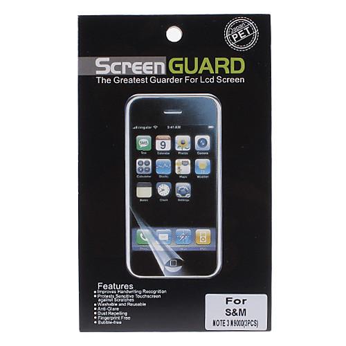 3 шт Величайший Профессиональный ЖК-экран Guarder Crystal Clear протектор для Samsung Galaxy Примечание 3 N9000 Lightinthebox 128.000