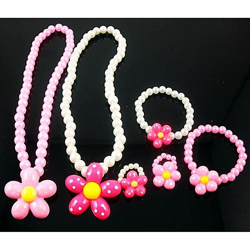 Девушки Прекрасный цветок комплект ювелирных изделий (ожерелье и браслет & Кольца) (случайный цвет) Lightinthebox 171.000