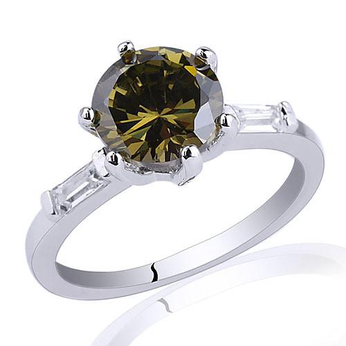 Тонкий Группа Леди 0,925 Серебряное кольцо с 8мм круглый цирконий Lightinthebox 1202.000