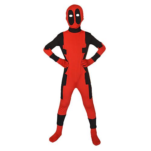 Дэдпул супергерой Красный & Черный лайкра Зентаи всего тела Детская Lightinthebox 1718.000