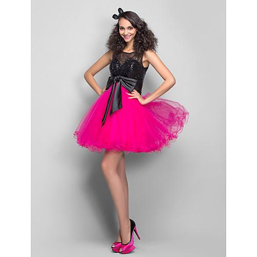 Коктейльное платье с пышной юбкой из тюли и расшитым пайетками верхом Lightinthebox 3798.000