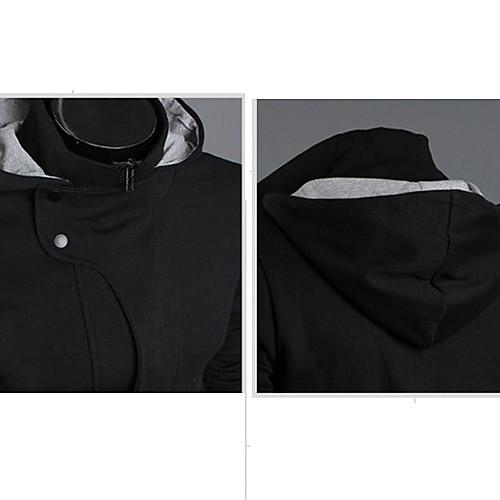 Мужская корейский стиль Casual Cotton молния Модный толстовки Lightinthebox 1060.000