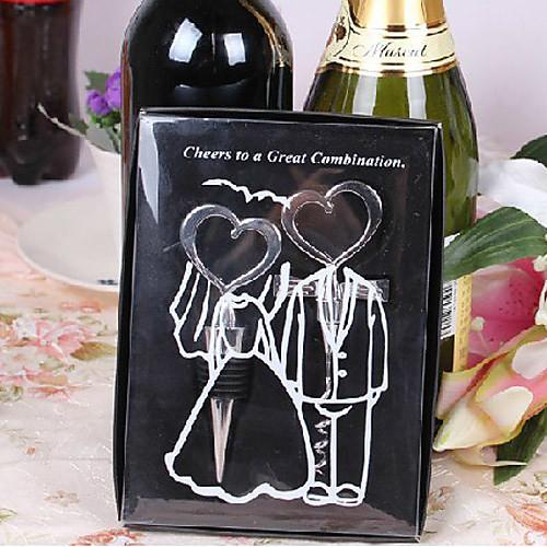 Пара Heart Shaped Пробка бутылки вина и штопор Set Lightinthebox 214.000