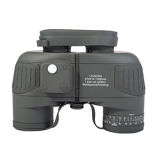 10X50 мм Бинокль Водонепроницаемый Компас Тактический Армия BAK4 Полное многослойное покрытие 132m/1000m Центральная фокусировка от Lightinthebox.com INT