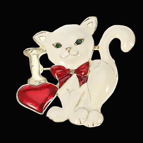 Симпатичный кот-образный сплав цинка Брошь LTJS-XZ102 Lightinthebox 257.000