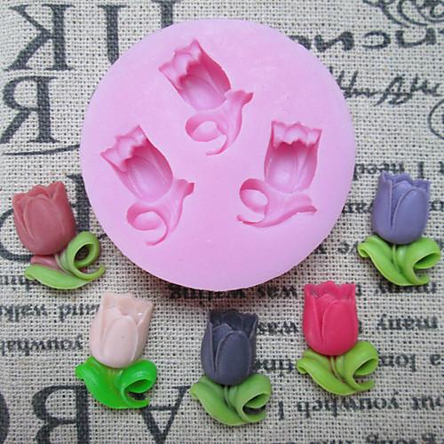 3D Круглый Цветок торта силикона Пресс-формы Lightinthebox 235.000