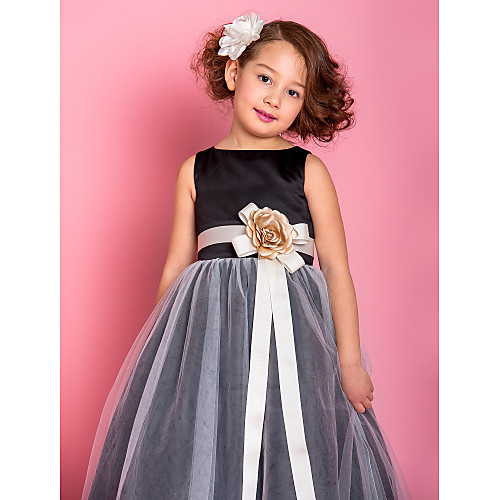 Онлайн Принцесса совок длиной до пола атласа и тюля платье девушки цветка (733939) Lightinthebox 3866.000