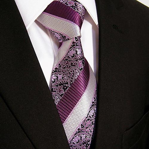 случайный фиолетовый цветочный принт галстук