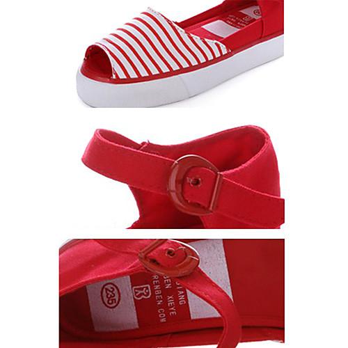 Женская Удобная Плоское основание Спорт Сандал (красный) Lightinthebox 944.000