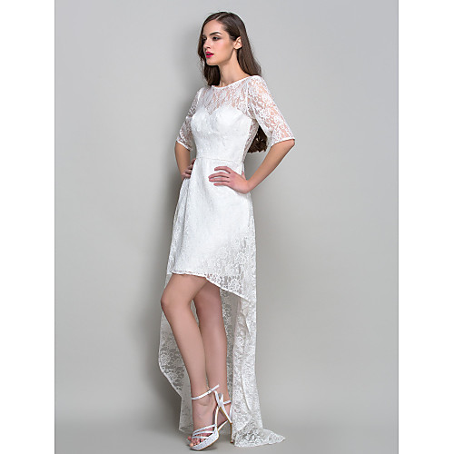 оболочкой / колонки совок асимметричные платья коктейль кружева (759820) Lightinthebox 3854.000