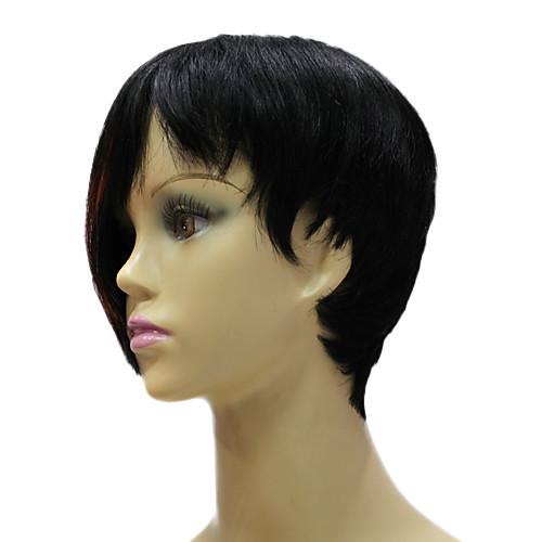 Рианна Прическа связали руки 100% реальные человеческие волосы Короткие смешанный цвет Прямые парики знаменитости Lightinthebox 2878.000