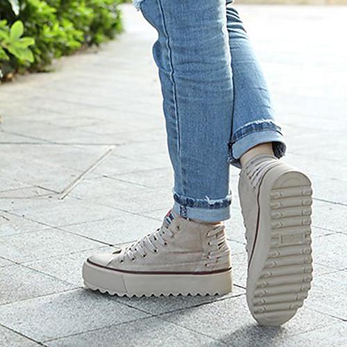 Женские Чистые обувь Цвет Холст с линии (хаки) Lightinthebox 1331.000