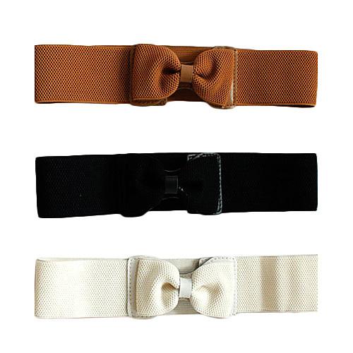 Женская Элегантная дама Девочка Пояс Пояс бантом Широкий эластичный стрейч галстук-бабочку Lightinthebox 128.000