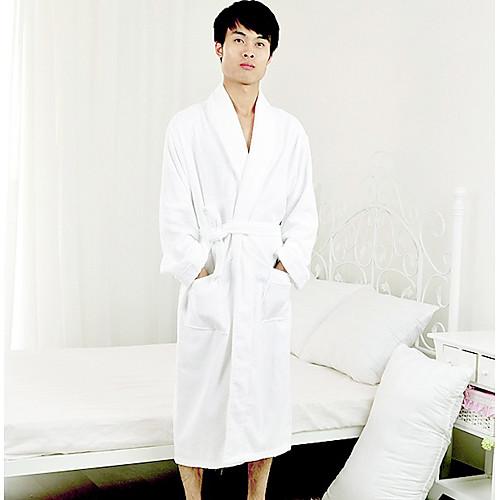 Банный халат, Терри 100% хлопок Белый Твердое Цвет одежды Сгущает Lightinthebox 2105.000