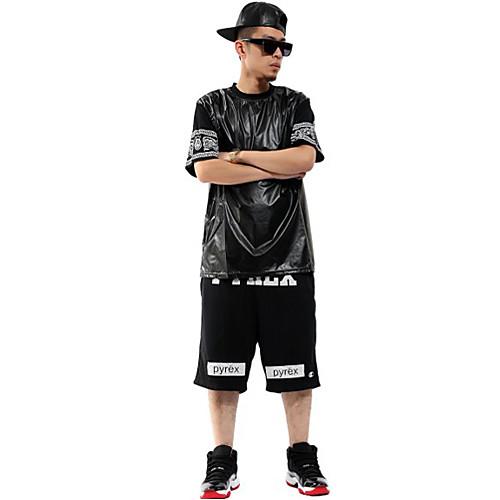 Мужская хип-хоп бандана рукавом Pu Футболки Lightinthebox 1033.000