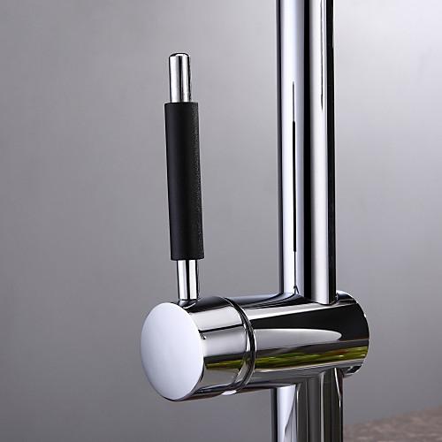 современной хромированной отделкой одной ручкой привело кухонный кран Lightinthebox 6445.000