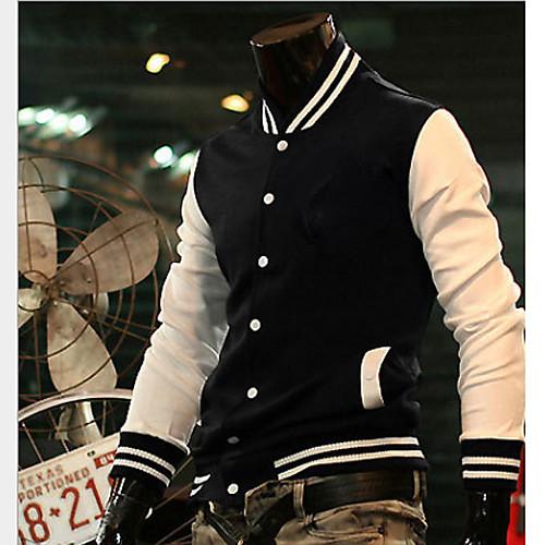 U & F Мужчины людей черный Британия Толстая Встроенная куртка Lightinthebox 944.000