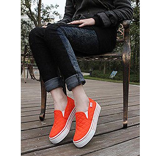 Женская плоским дном Низкий Кроссовки Спортивная повседневная (оранжевый) Lightinthebox 1374.000