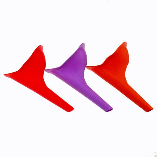 открытый TPR красный женщин аварийного стоя мочиться писсуар инструмент (случайный цвет) Lightinthebox 171.000