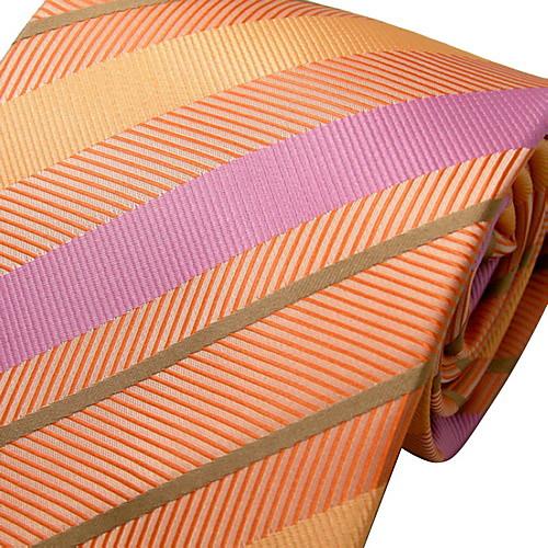 случайный Оранжевая полоса шелковый галстук Lightinthebox 558.000