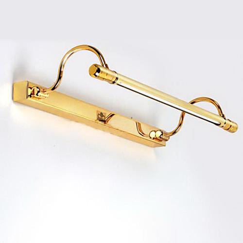 С лампочками Ванная комната Настенный светильник, 1 Свет, Modern Metal Золотой гальванических Lightinthebox 4296.000