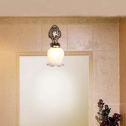 Ванная комната Настенные светильники, 1 Легкий, Классический Металл Стекло Живопись Lightinthebox 2577.000