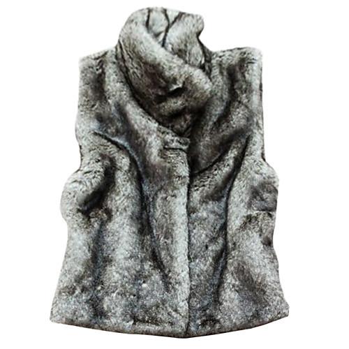 меховой жилет с рукавов стоя в искусственного меха партии / вскользь жилет (больше цветов) Lightinthebox 2075.000