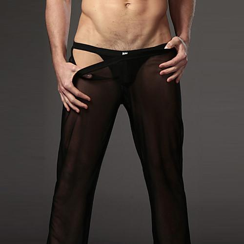 Мужские брюки Прозрачные марлевые Брюки Сексуальная Бытовая Брюки Lightinthebox 418.000