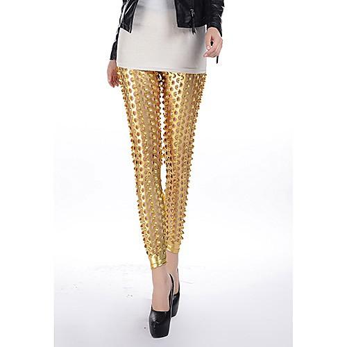 Мода Золото Панк рыбья чешуя пирсинг дыры Леггинсы Lightinthebox 502.000