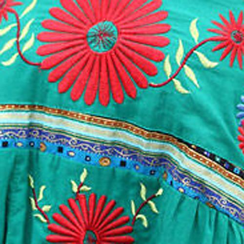 богема плиссированные длинные юбки вышивки платье (текстуры шаблон случайных доставки) Lightinthebox 1200.000