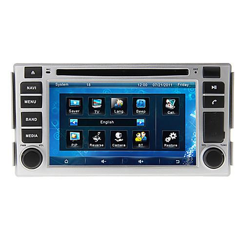 параболическая  6.2-дюймовый 2DIN автомобильный DVD-плеер для Hyundai Santa Fe 2007-2012 Поддержка GPS, BT, RDS, игры, ставку Lightinthebox 9281.000
