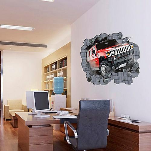 Автомобильные пробки в стене шаблон DIY слипчивый съемный Наклейка на стену Lightinthebox 644.000