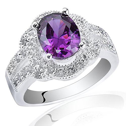 Сияющий 925 Серебряное кольцо для леди с овальным вырезом циркон Lightinthebox 1675.000