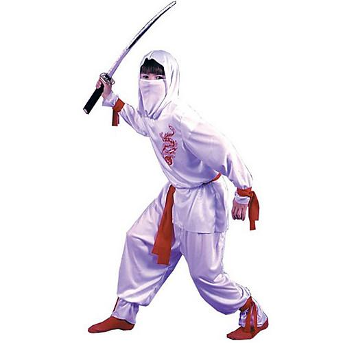 Прохладный Ninja белых Детский карнавал Костюм с Красной Бандаж (для Рост 125-150см) Lightinthebox 1073.000