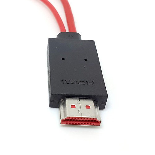 2м МХЛ Micro USB 5Pin к HDMI кабель для Galaxy S2 i9100 I9220 I9225 HTC EVO 3D ONE X красный цвет Lightinthebox 429.000