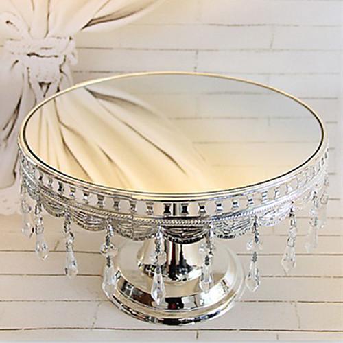 Серебрение торт постамент с хрустальными подвесками, 12
