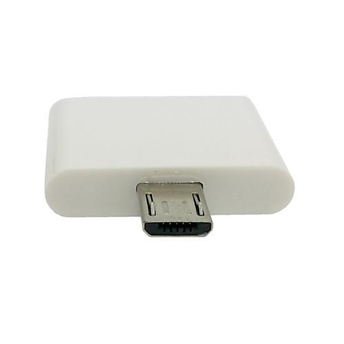Док 30Pin IPhone 4S Ipad Женщину с Micro USB 2.0 Мужской адаптер для Samsung Galaxy Примечание 2 N7100 S4 i9500 Lightinthebox 85.000